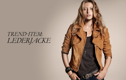 Esprit Werbung Lederjacke