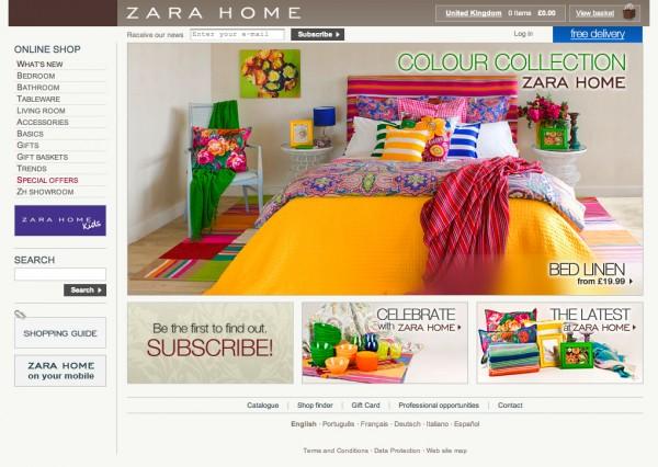 Zara Home Online Shop