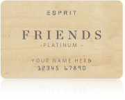 Esprit Friends Platinum Card